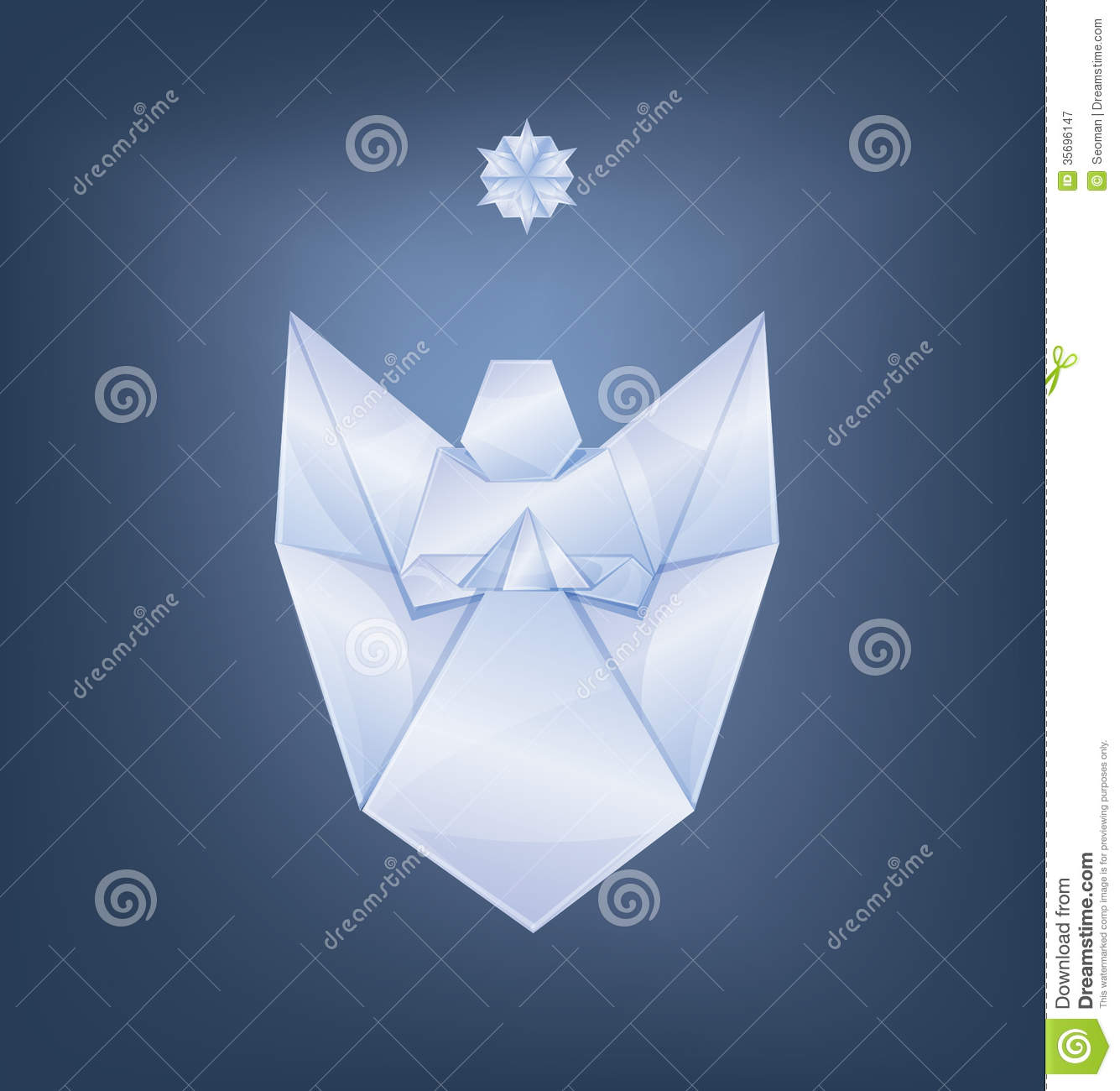 Singing Christmas Angel With First Star Origami Royalty