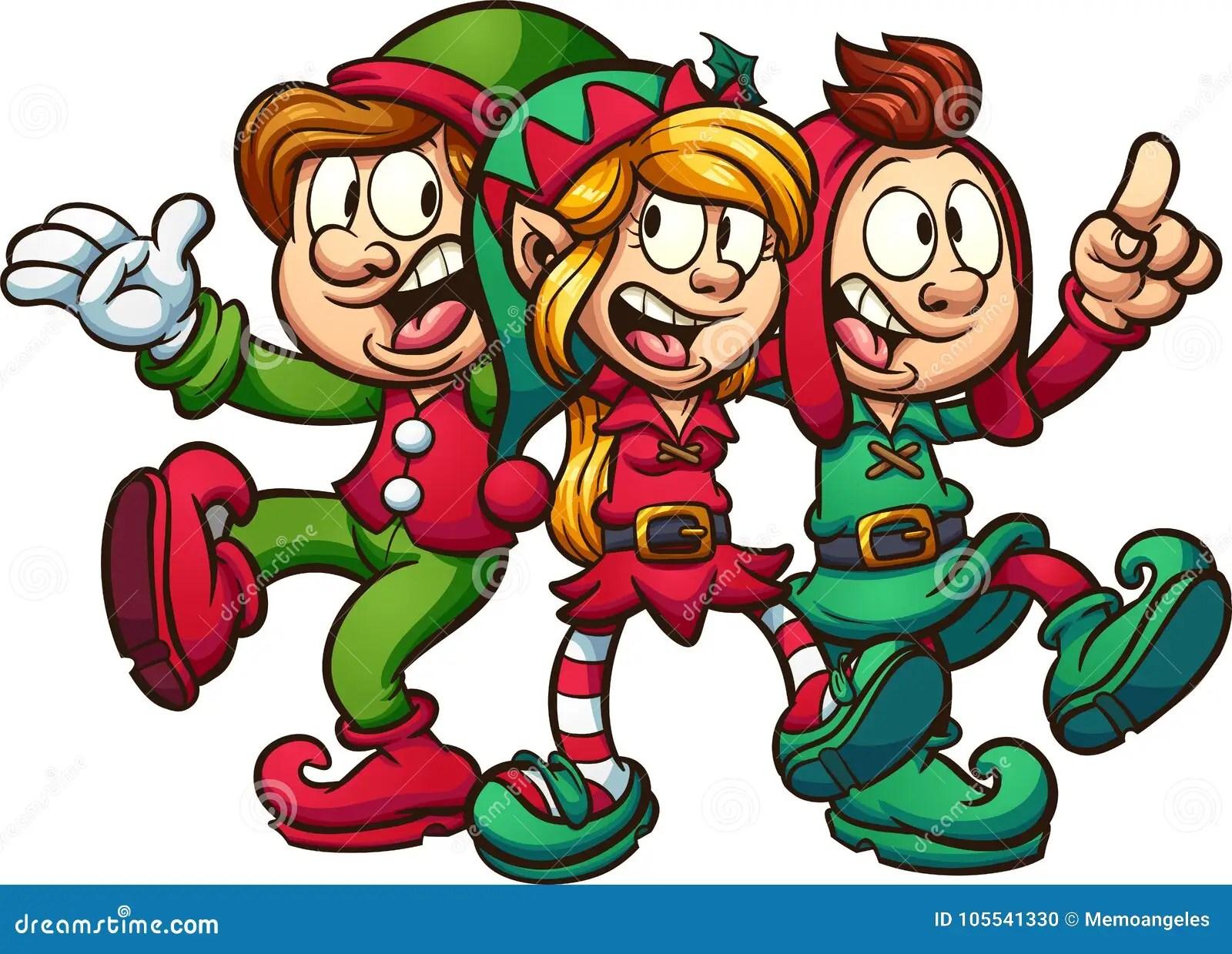 singing christmas elves stock