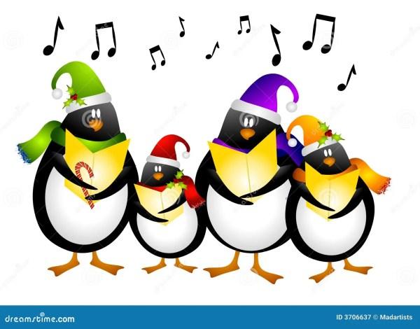 singing penguin christmas carolers