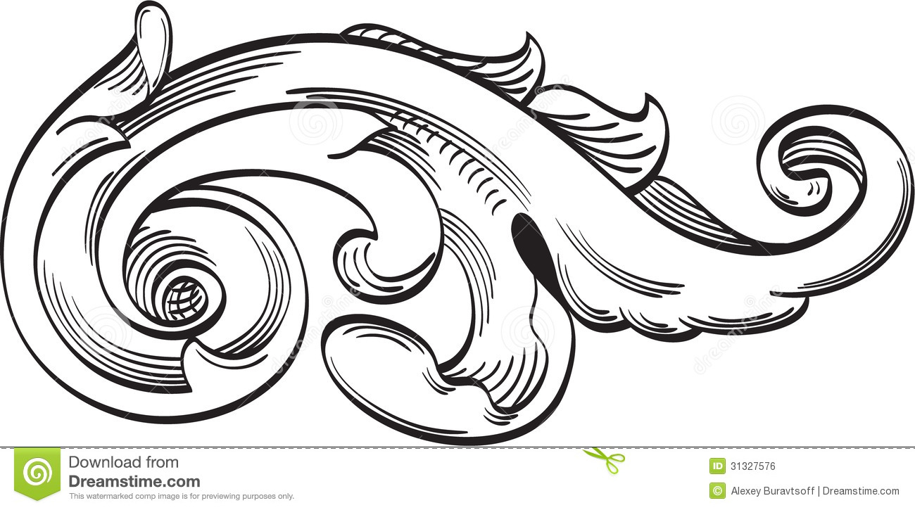 Single acanthus leaf stock vector. Illustration of