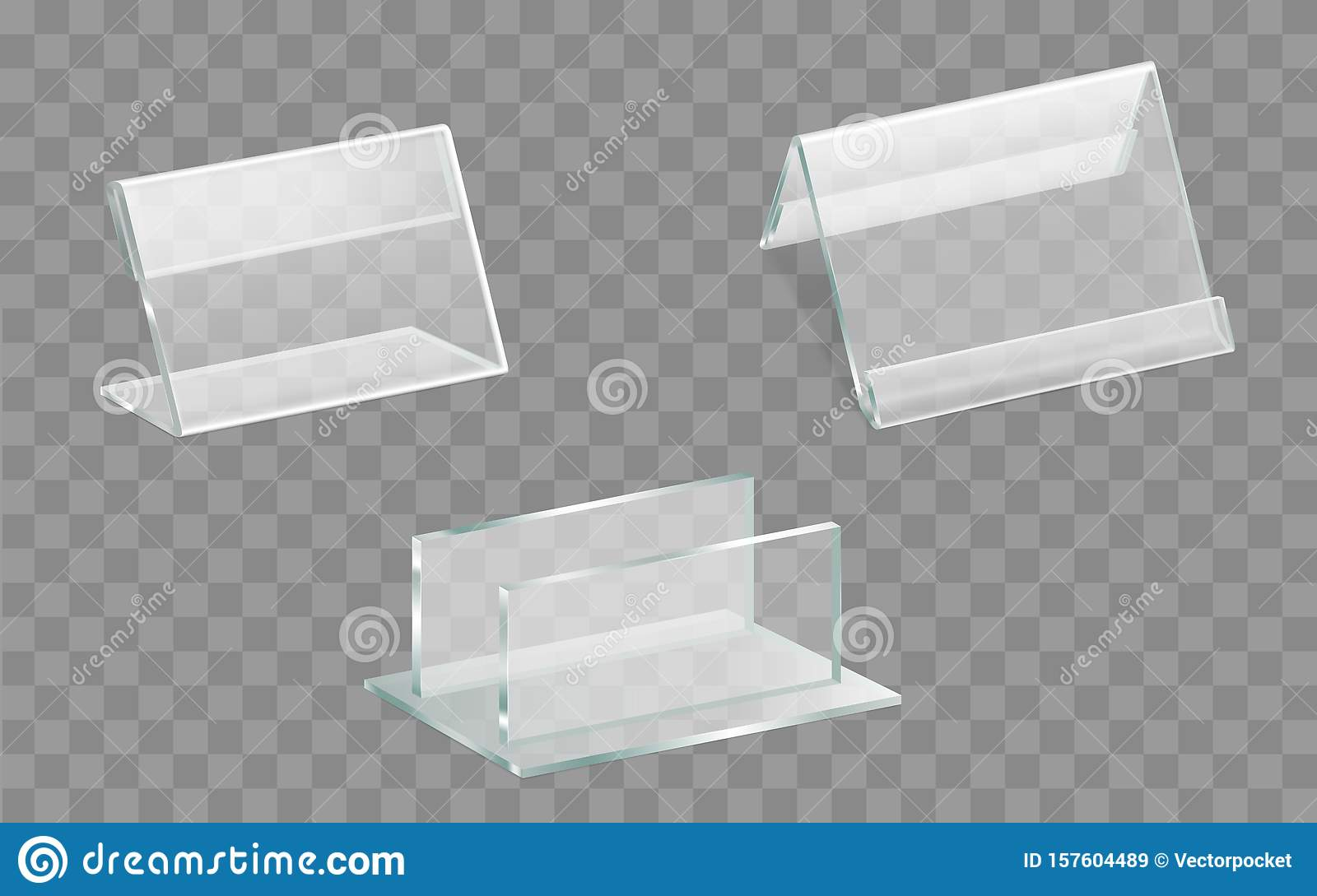 https www dreamstime com single double sided acrylic glass table displays talkers menu ad leaflets brochures plexiglass holders side top image157604489