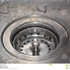 Kitchen Gutter Stainless Table Stock Image Of Water Sharp 54864153