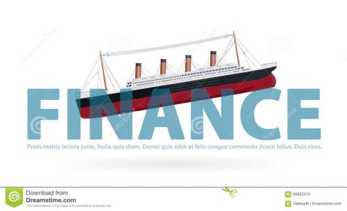 small resolution of sinking titanic in finance metaphor joke paraphrase quip symbol of bad financial situation