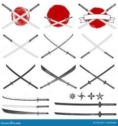 sistema de las espadas del katana [ 1300 x 1390 Pixel ]