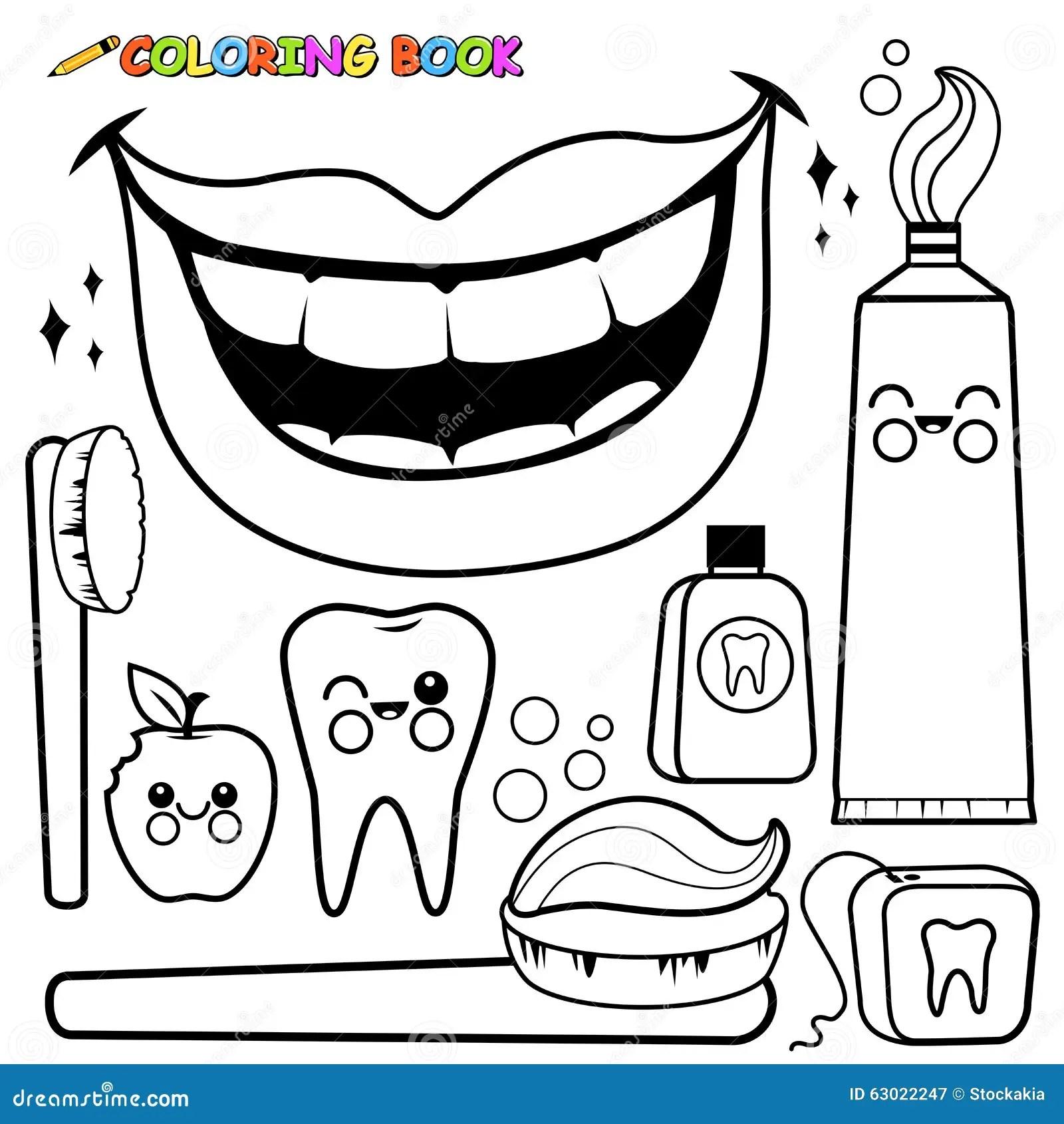 Sistema Dental Del Vector De La Higiene De La Pagina Que