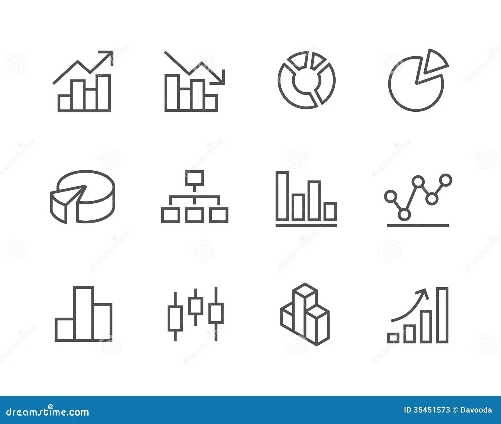 Sistema Frotado Ligeramente Del Icono Del Grafico Y Del