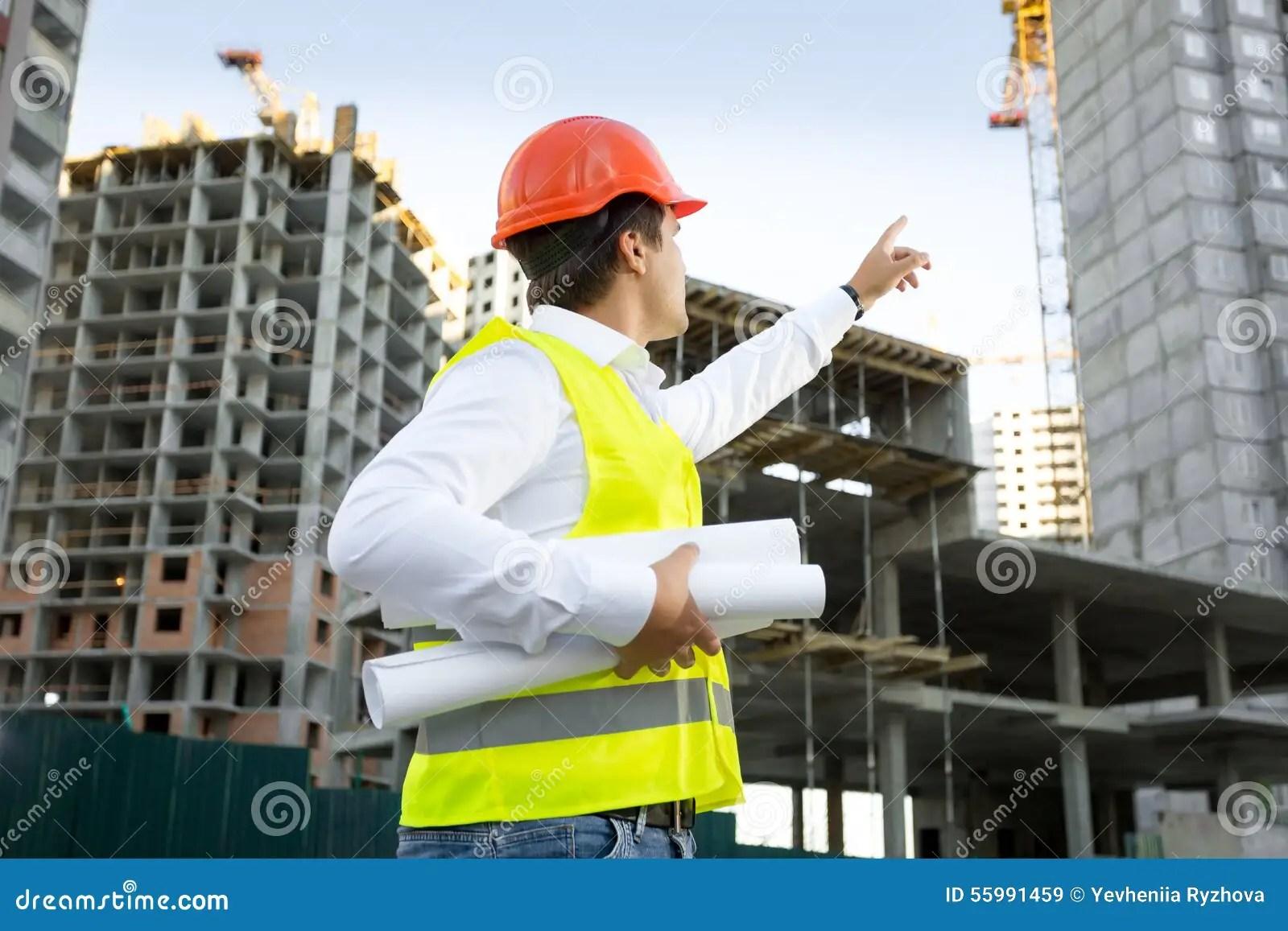 Construction Site Manager Stock Image  CartoonDealercom 1943881