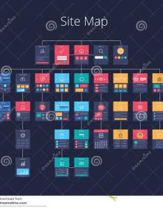 Concept of website flowchart sitemap pixel perfect layered vector illustration also site map stock chart rh dreamstime