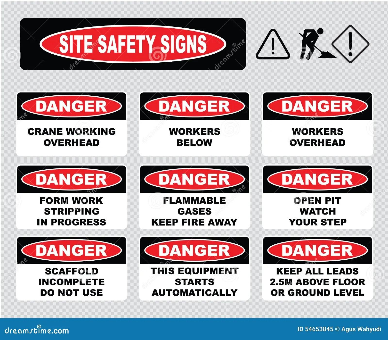Site Safety Signs Stock Illustration Illustration Of