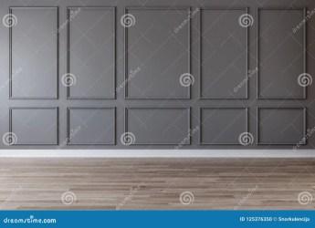 Sitio Vacío Con La Pared Gris Oscuro Los Moldeados Y El Piso De Madera Stock de ilustración Ilustración de pared piso: 125376350