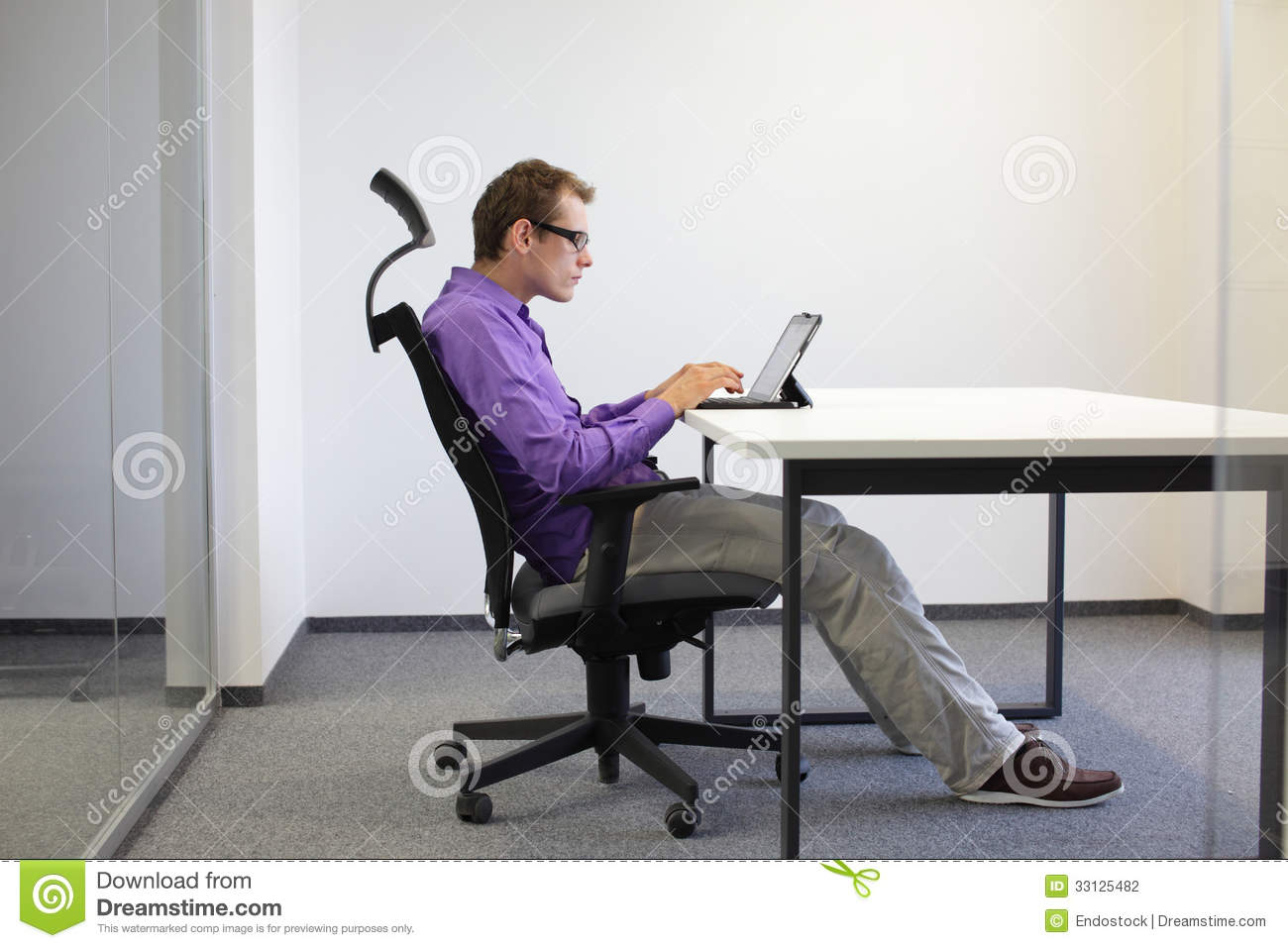 sitting posture on chair in office swingasan for sale at tablet stock photo image of activity