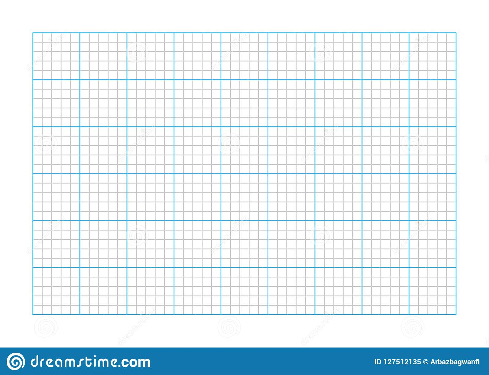 A9 Size Graph Paper Stock Vector Illustration Of Line