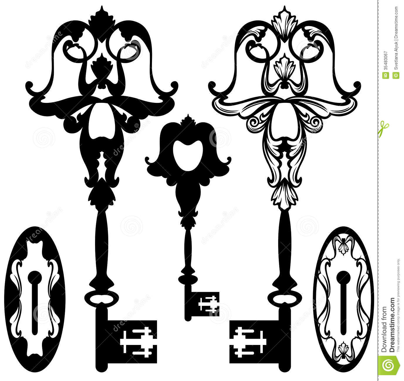Skeleton Key Vector Stock Vector Illustration Of Ornate