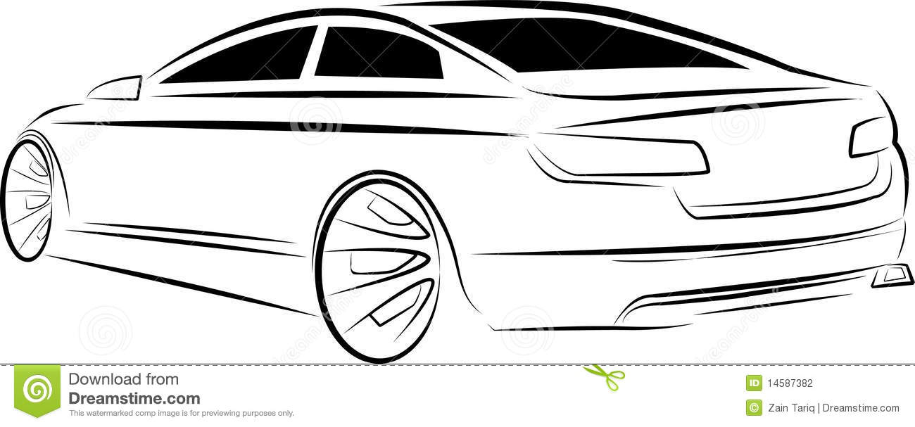 Sketch car stock vector. Illustration of vehicle, speed