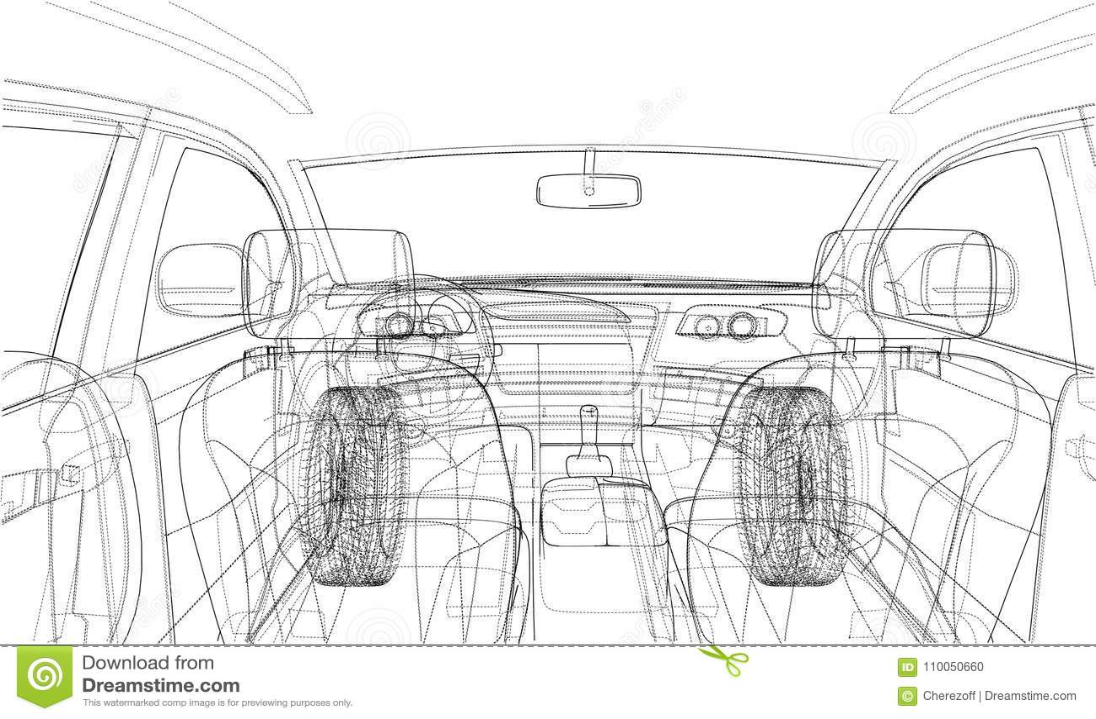Vector Car Technical Draft Vector Illustration