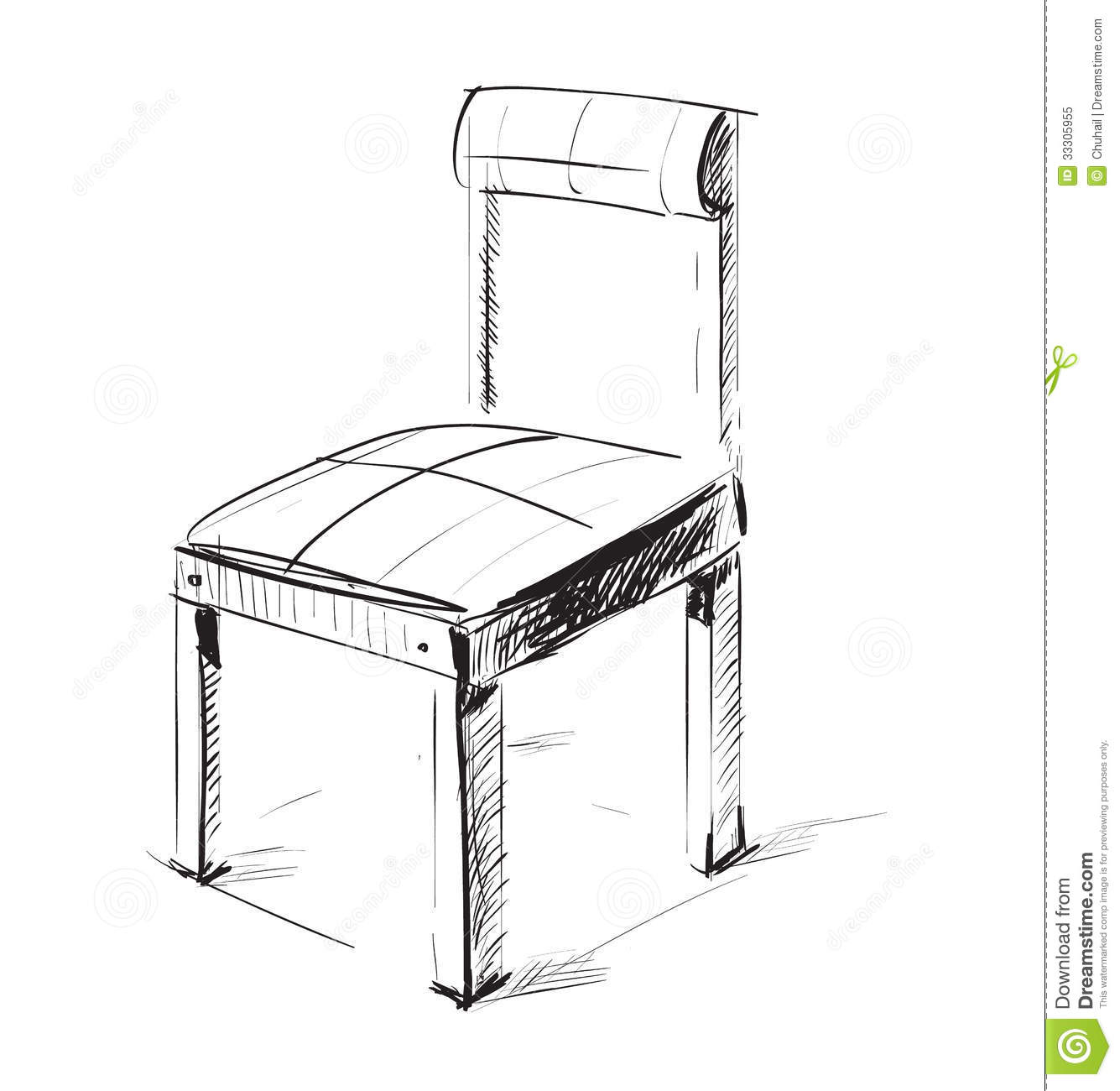 Sketch Chair Icon Royalty Free Stock Photo