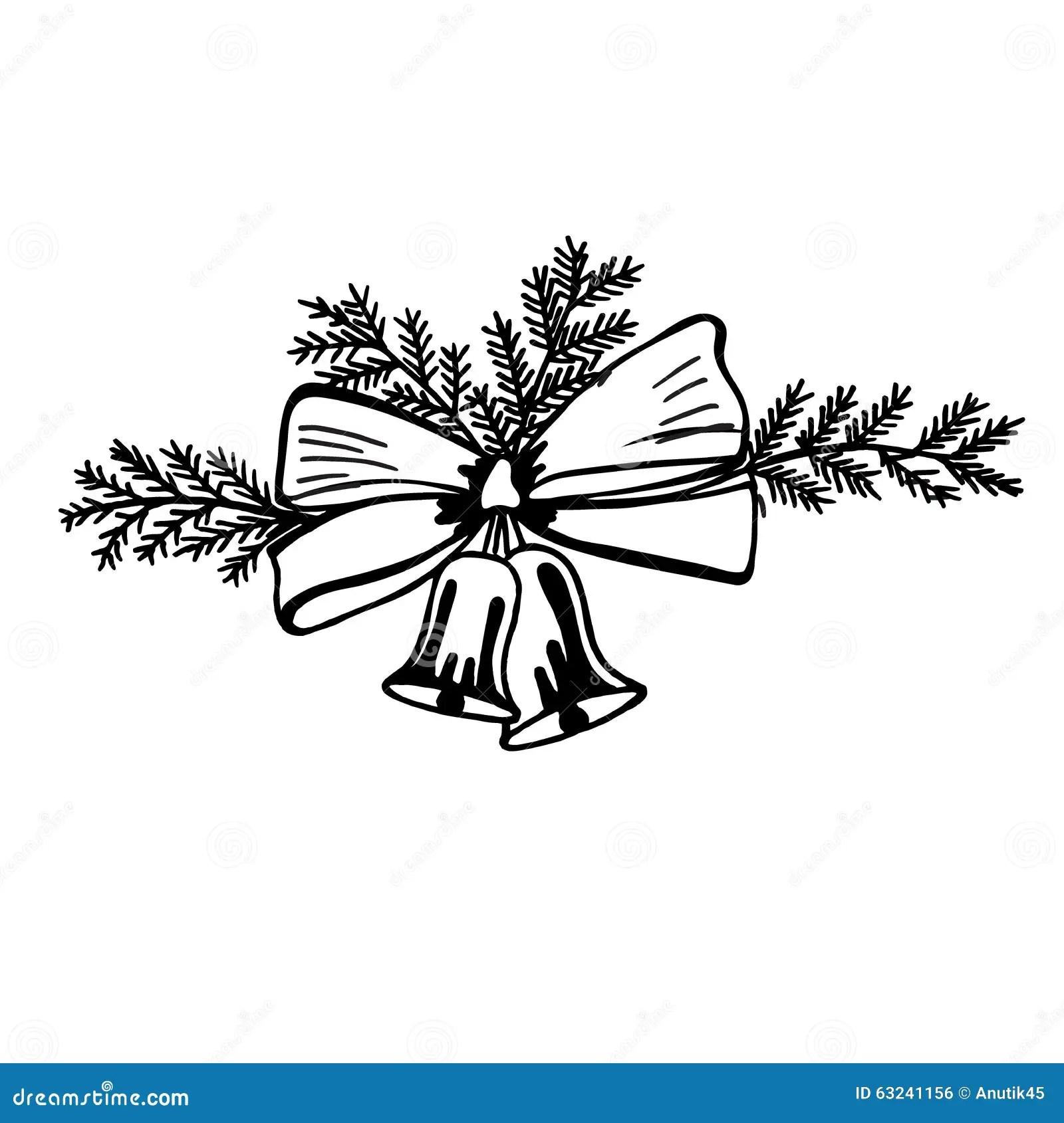 Sketch Christmas Bells Jingle Bells Vector Isolated