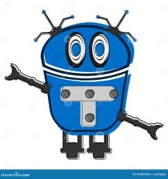 sketch of a cute robot [ 1300 x 1390 Pixel ]