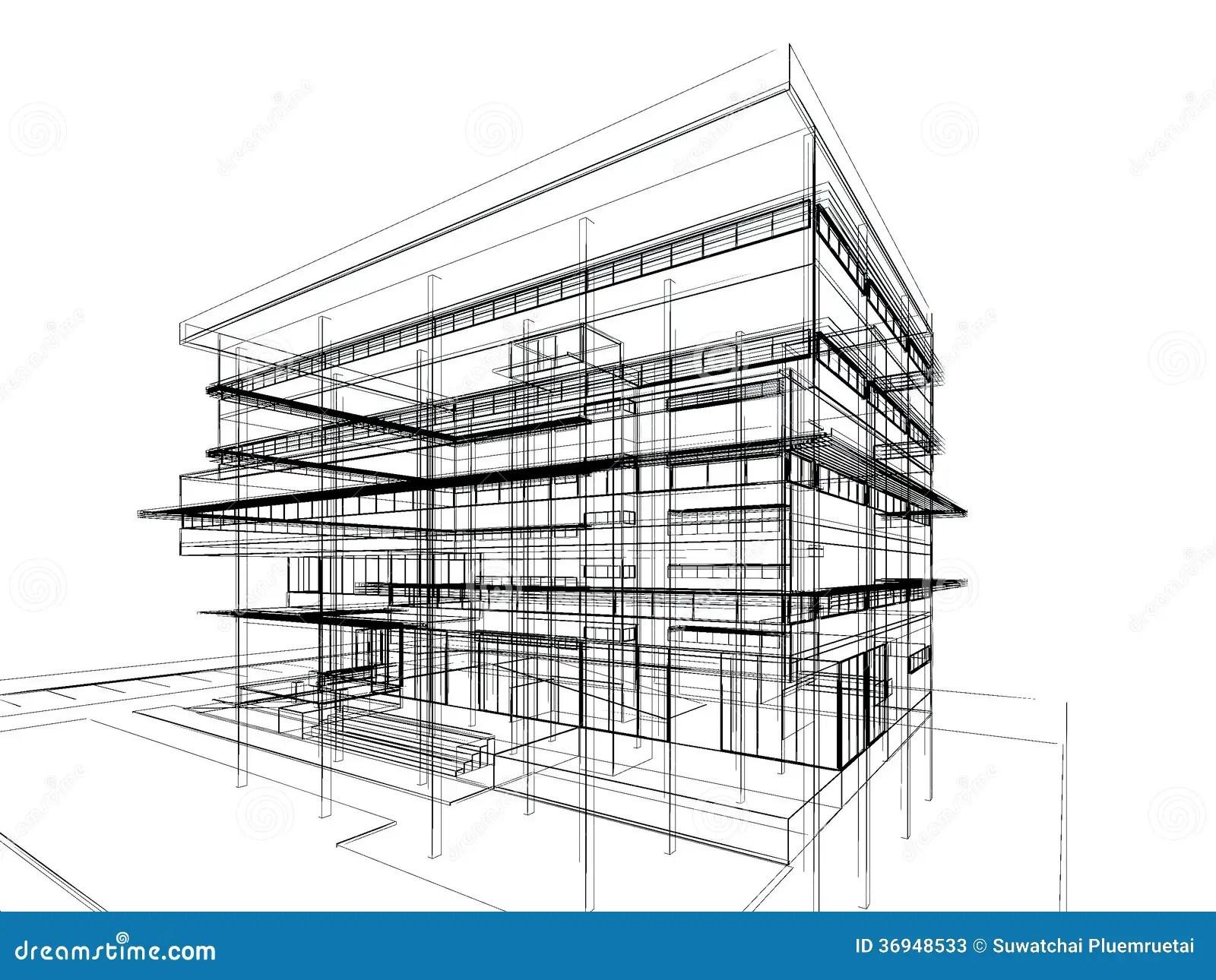 Sketch Design Of Building Stock Illustration Illustration
