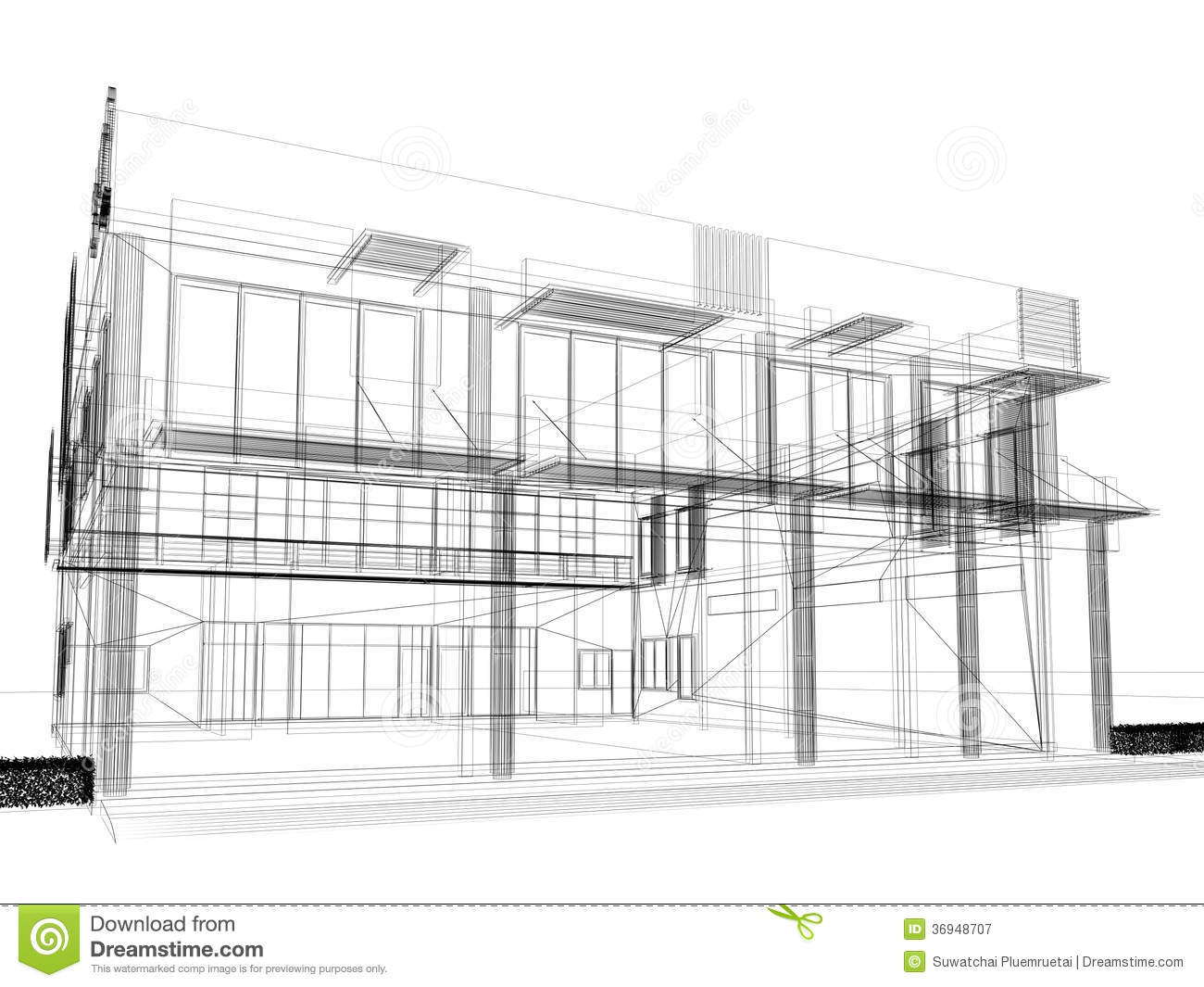 Sketch Design Of Building Royalty Free Stock Photography