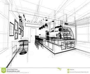 coffee sketch perspective architecture illustration preview