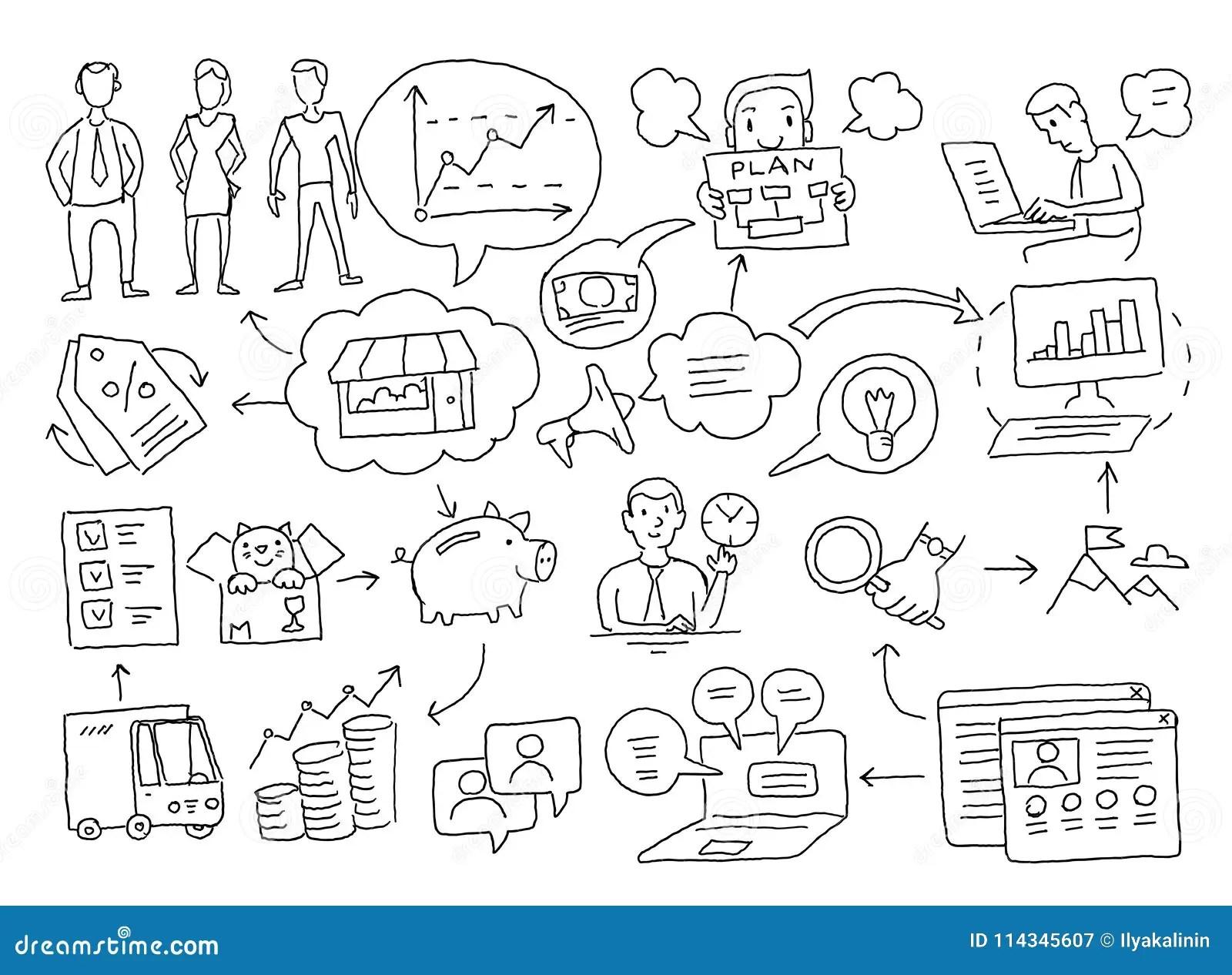 Sketch Diagram Of Cases. Business Plan Presentation