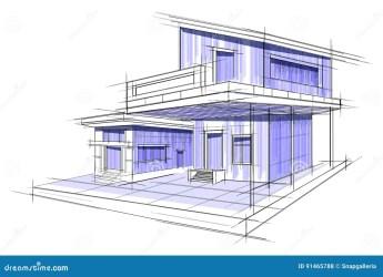 draft sketch building exterior blueprint easy vector edit editable