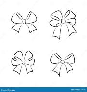 sketch bows stock vector