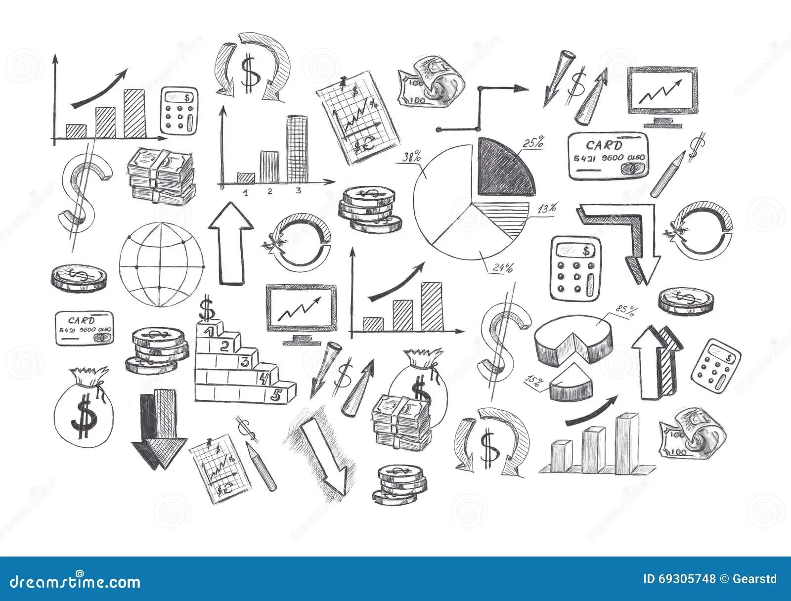 Drawing Graphics Growing Graph Stock Image