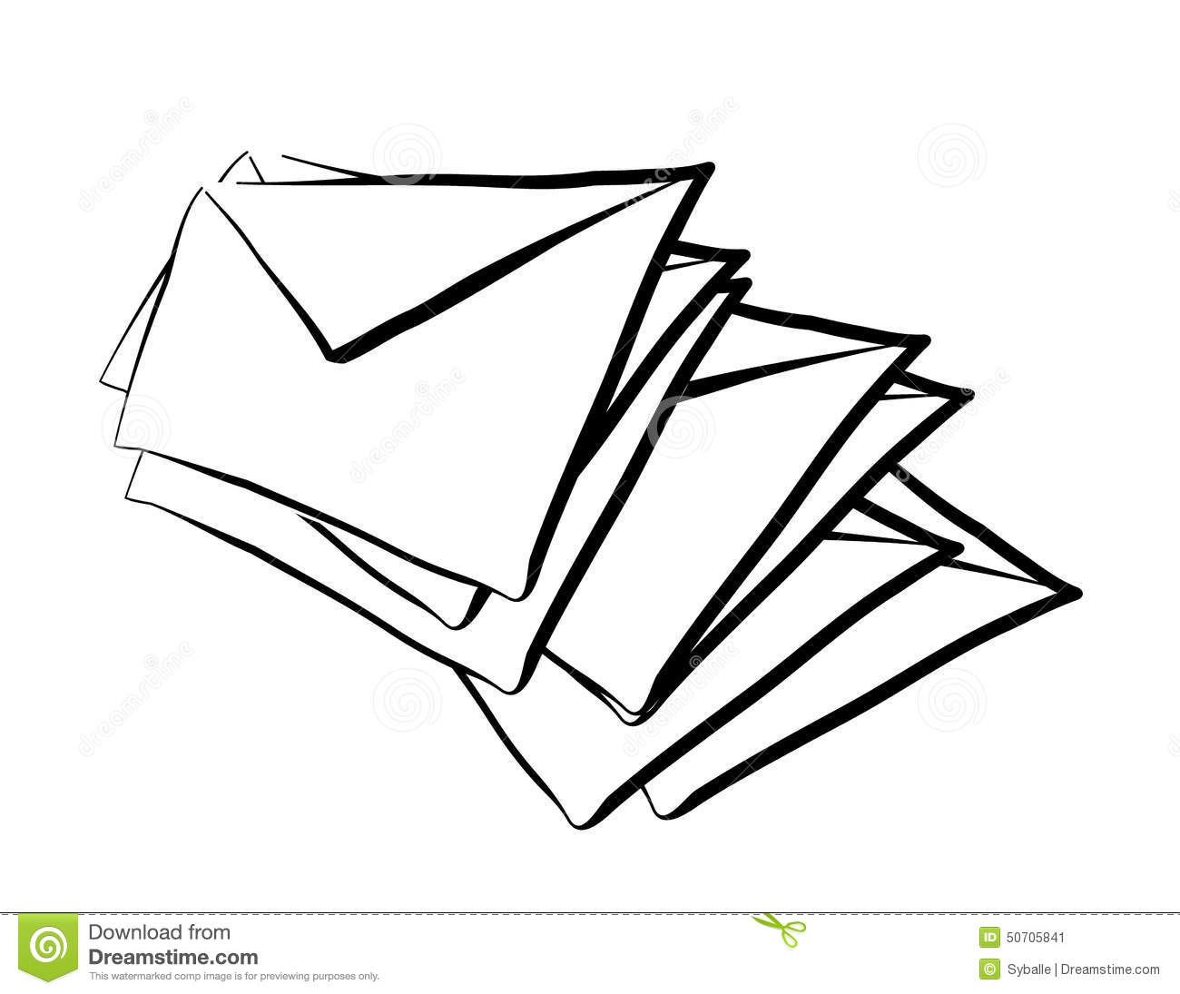 Sketch Mail Stock Vector Illustration Of Incoming Whole