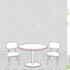 Modern Drafting Chair Electric Power Supply Sketch Of Interior Table And Chairs. Vector Royalty Free Stock Photography - Image: 33047807