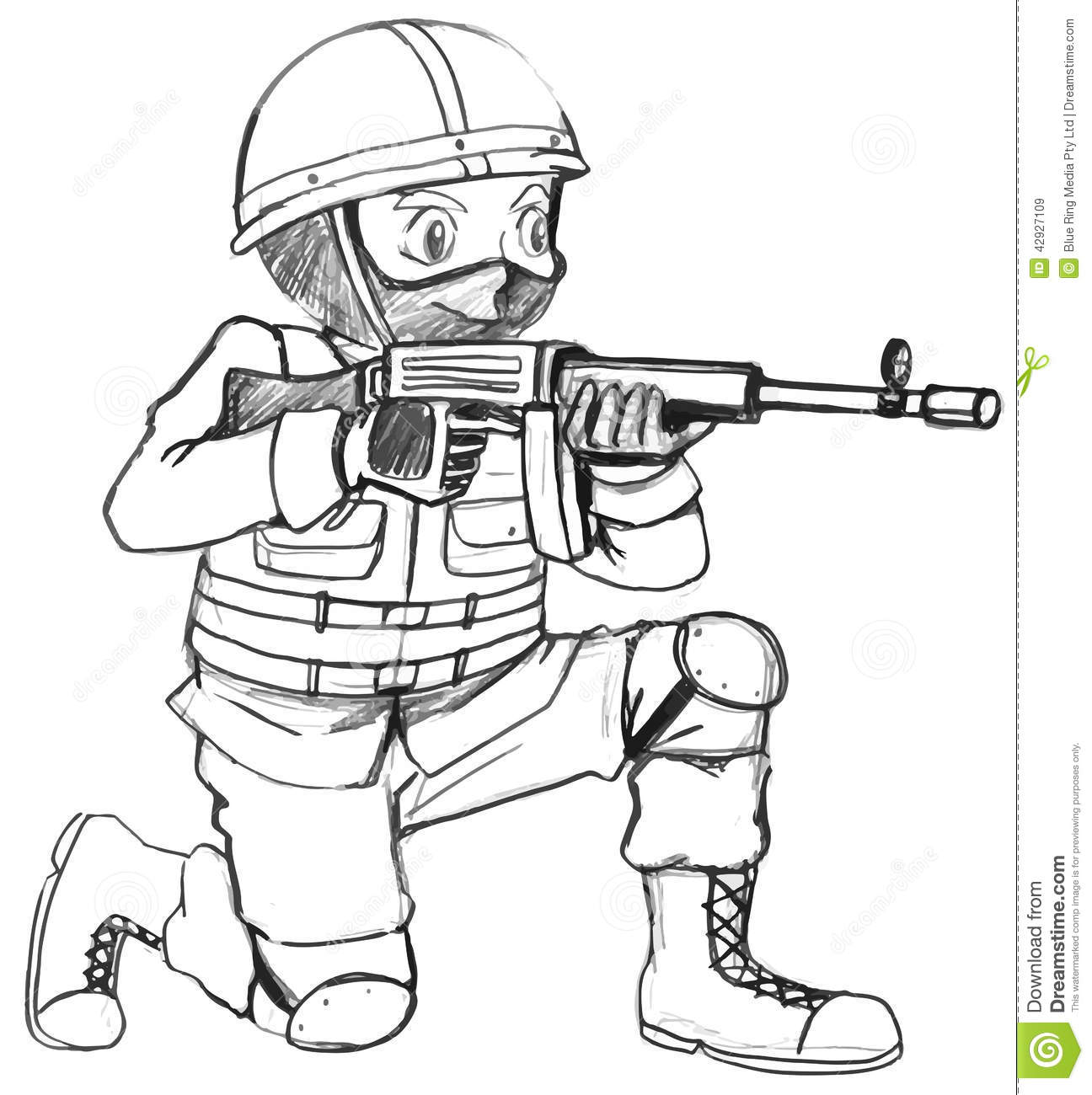 Army Sniper Coloring Pages