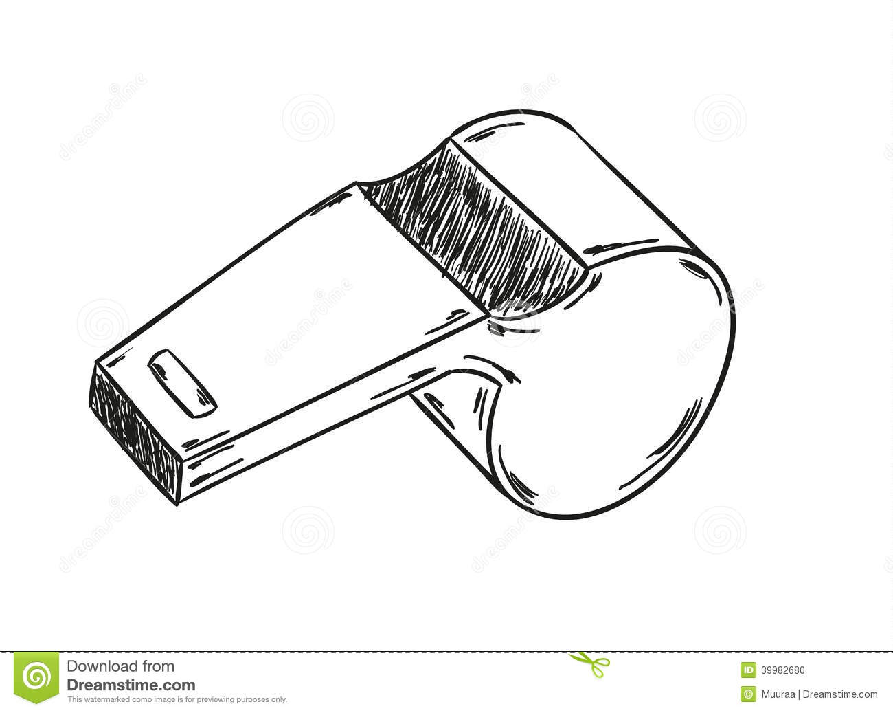 Sketch Of The Whistle Stock Vector Illustration Of