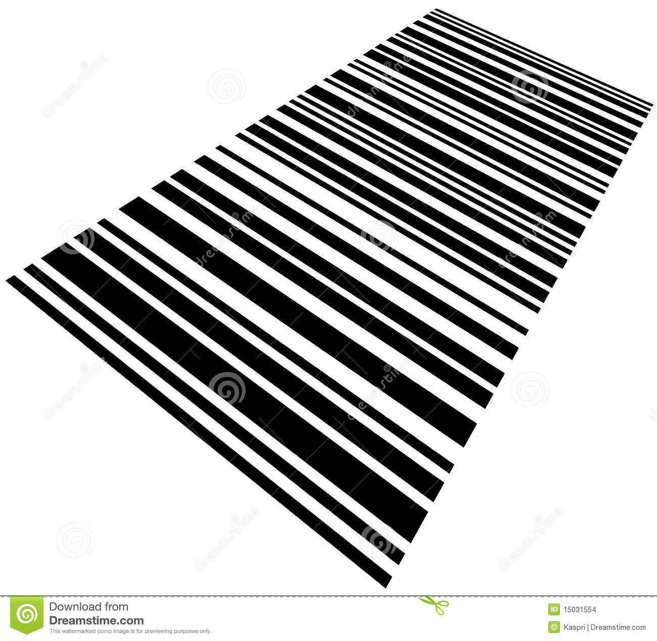 Skewed Barcode Background Macro Closeup Isolated Stock