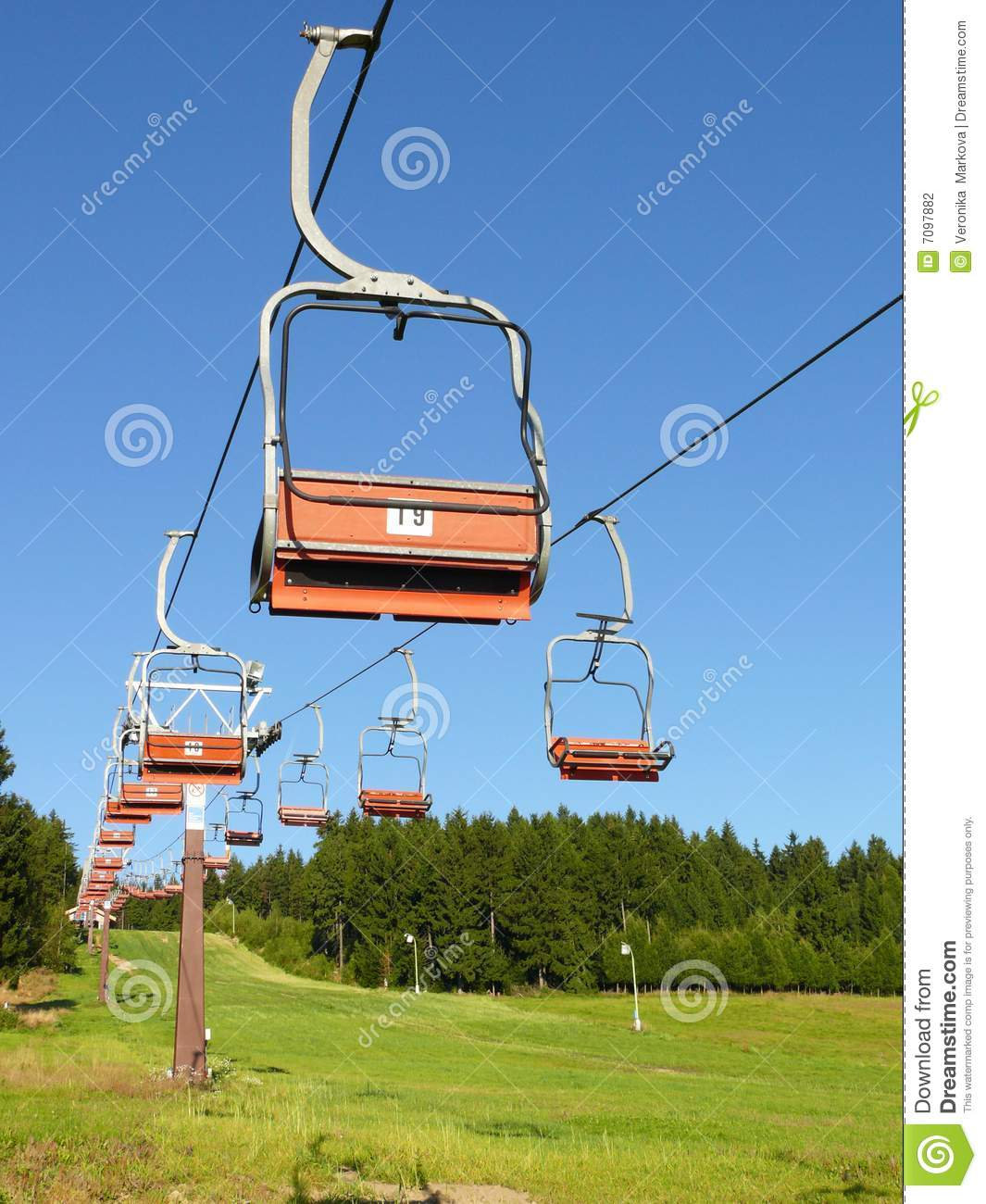 ski chair lift white leather swivel office stock photography image 7097882