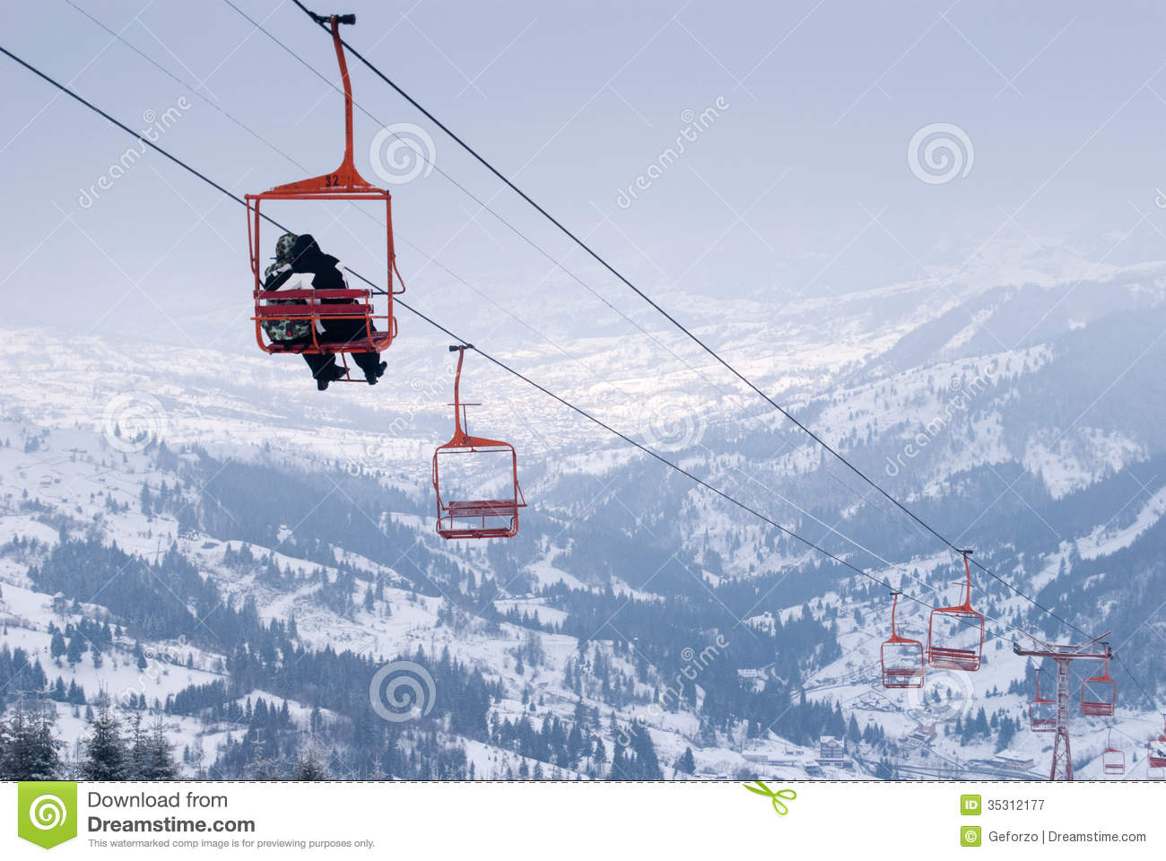 ski chair lift the first years potty royalty free stock photography image
