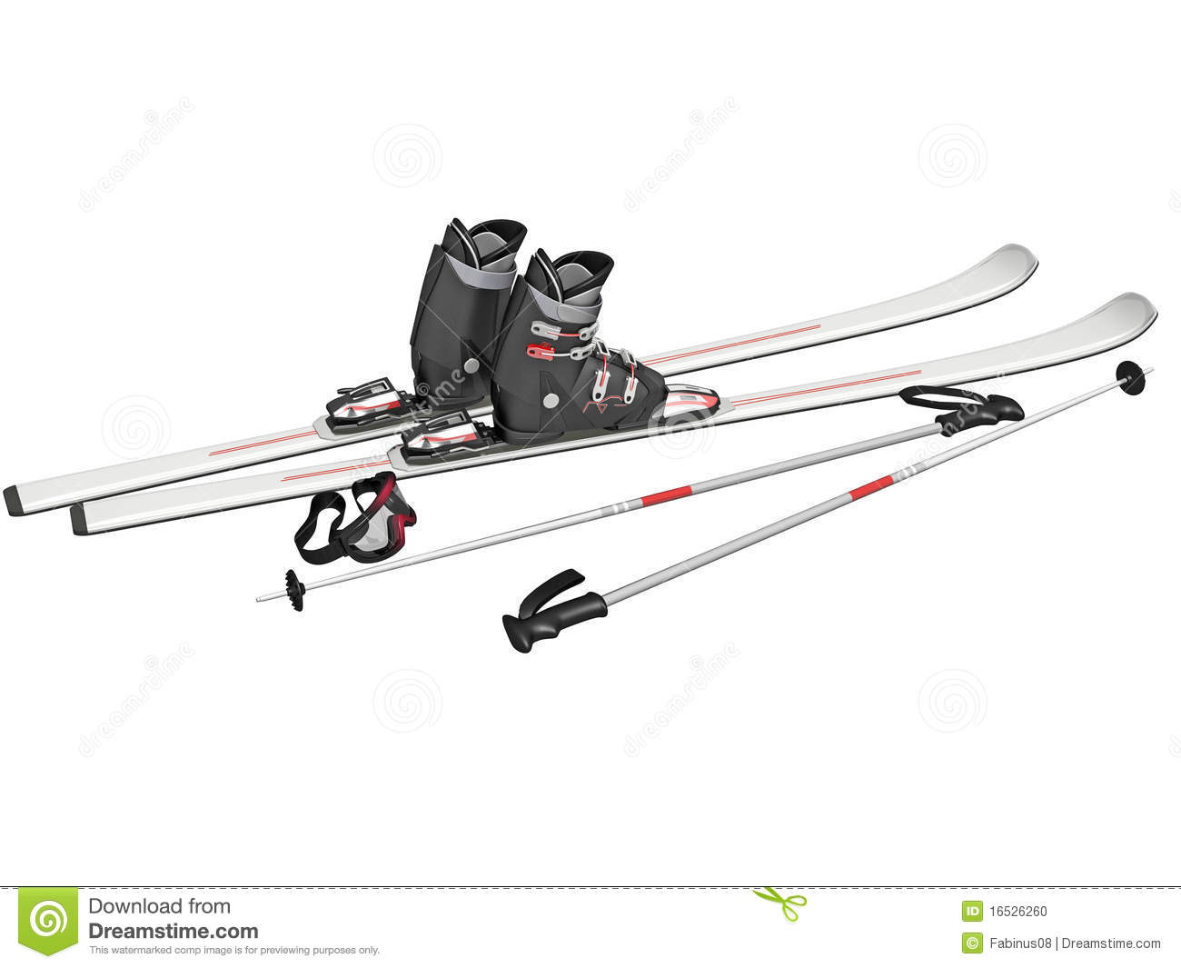 Ski Equipment Stock Illustration Illustration Of Sports