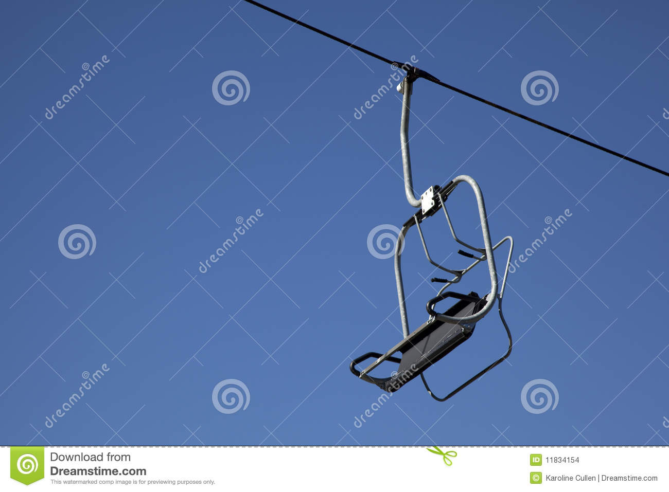 buy ski lift chair ebay party covers an empty with blue sky royalty free stock