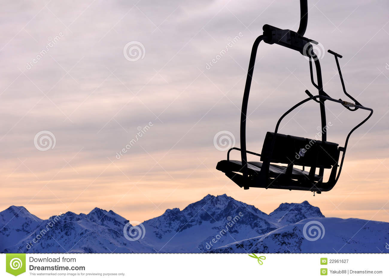 ski chair lift kirklands dining chairs on mountains royalty free stock photography