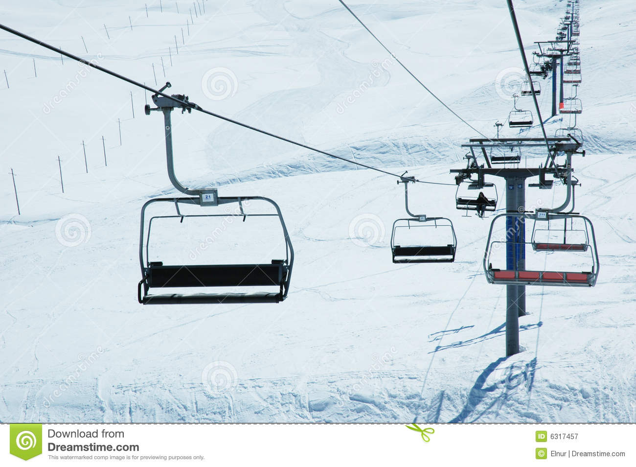 ski chair lift table and 4 chairs stock image of hill