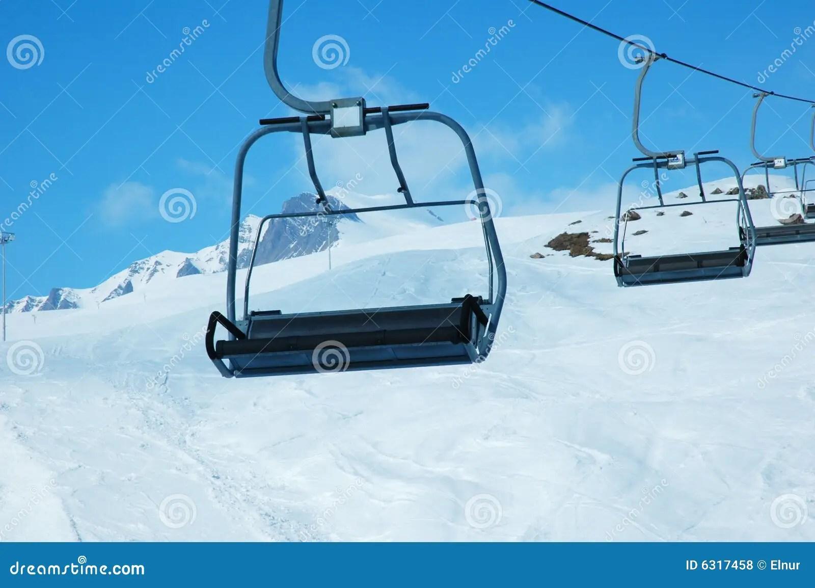 ski chair lift high splat mat australia chairs royalty free stock photos image 6317458