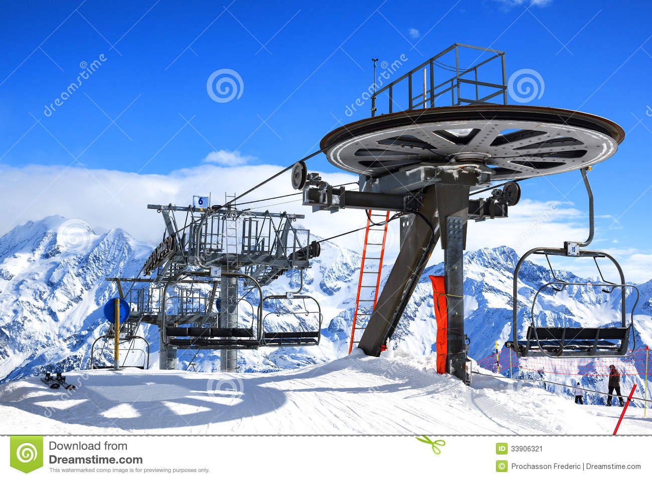 ski chair lift best compact high chairs stock image of ride cable