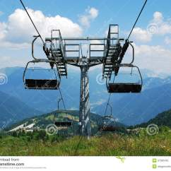 Buy Ski Lift Chair Pallet Table And Chairs At Summer Royalty Free Stock Photo