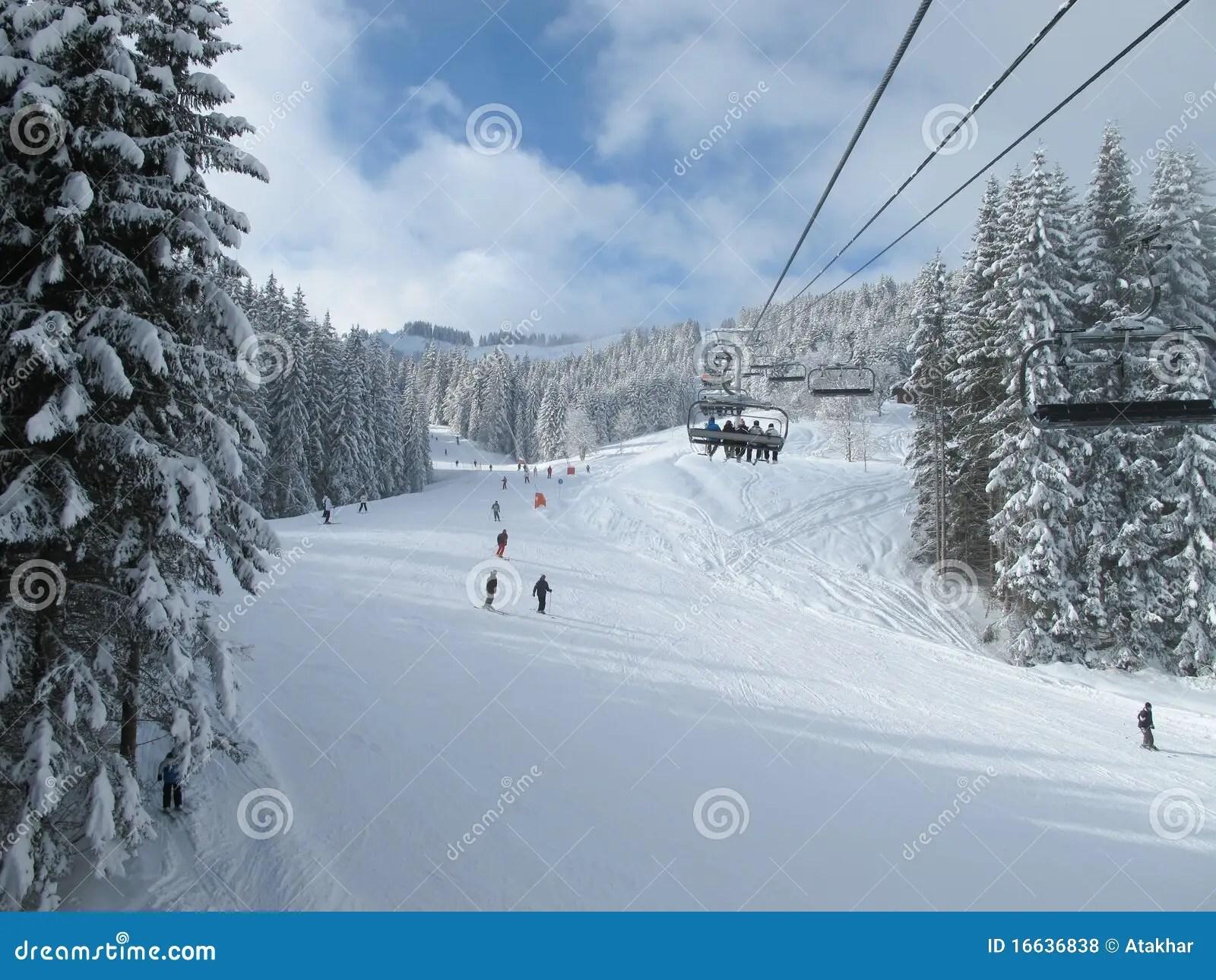 buy ski lift chair desk armrest chairlift in european alps stock photo