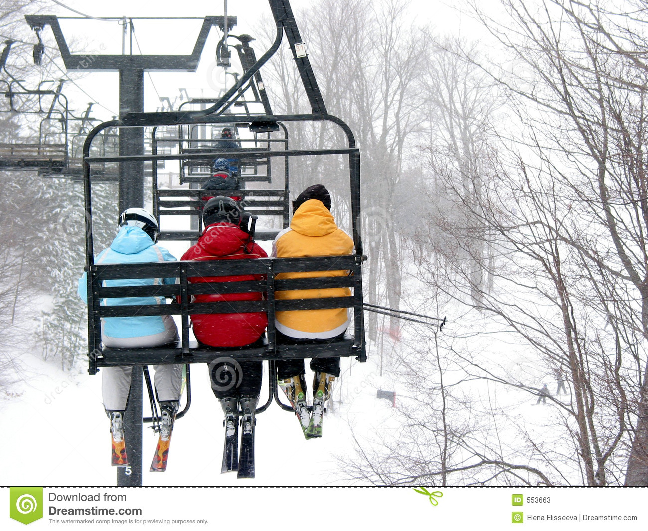 ski chair lift outdoor patio dining chairs skiers on chairlift stock image of sport 553663