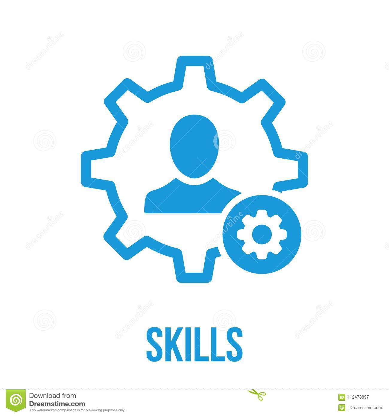 Skills Icon With Settings Sign Skills Icon And Customize