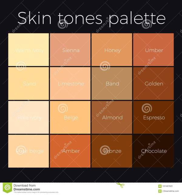 20 Photoshop Skin Tone Color Palette Pictures And Ideas On Weric