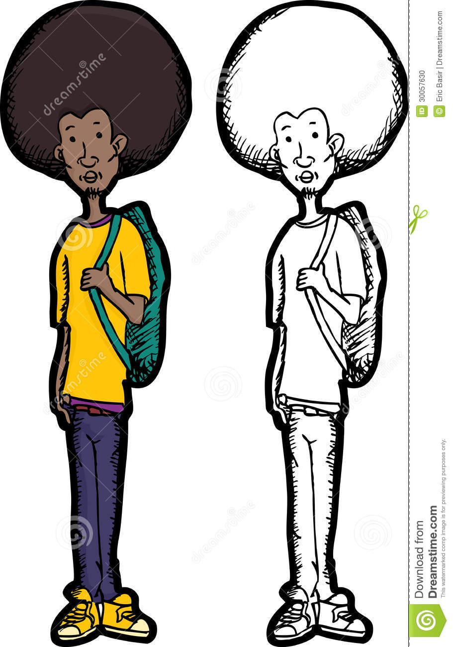 Skinny Teen With Backpack Stock Photo Image 30057630