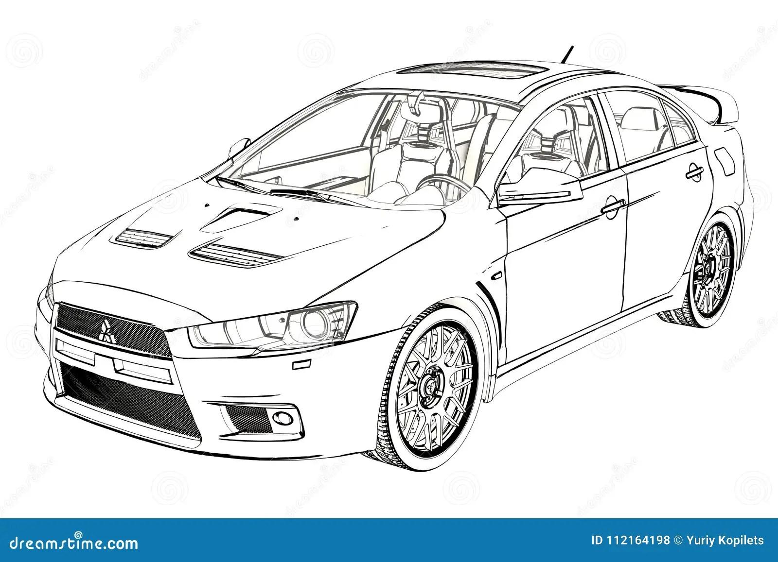 Skizze Limousine-Mitsubishi-Entwicklungs-X Abbildung 3D
