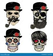 skull beard logo